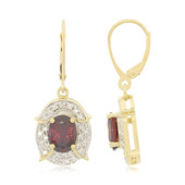 18K Red Zircon Gold Earrings (AMAYANI)
