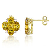 9K Yellow Beryl Gold Earrings