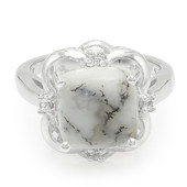 Dendritic Agate Silver Ring