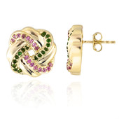 14K Pink Tourmaline Gold Earrings (de Melo)