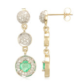14K Ethiopian Emerald Gold Earrings (Lance Fischer)
