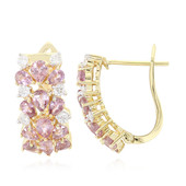 18K Unheated Padparadscha Sapphire Gold Earrings