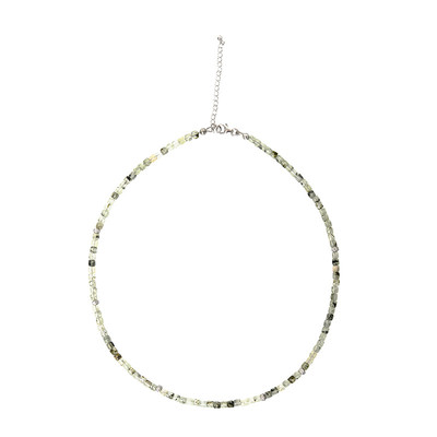 Prehnite Silver Necklace