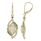 9K Welo Opal Gold Earrings (Adela Gold)
