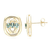 14K Brazilian Alexandrite Gold Earrings (Lance Fischer)