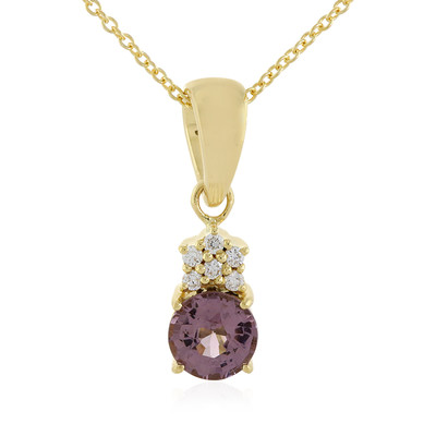 18K Purple Burmese Spinel Gold Necklace