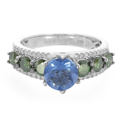 Colour Change Fluorite Silver Ring