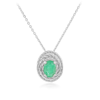 14K AAA Zambian Emerald Gold Necklace (Lance Fischer)