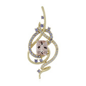 9K Morganite Gold Pendant (Adela Gold)