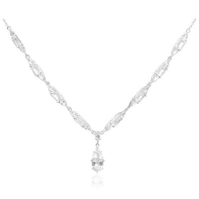 White Topaz Silver Necklace