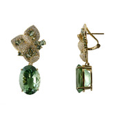 14K Rio Grande Green Amethyst Gold Earrings (de Melo)
