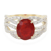 9K Queretaro Cherry Fire Opal Gold Ring