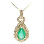 14K Colombian Emerald Gold Necklace (CIRARI)