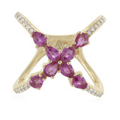 9K Pink Sapphire Gold Ring (Adela Gold)