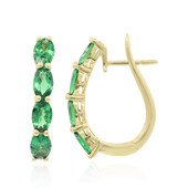14K Tsavorite Gold Earrings