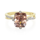 18K Pink Zircon Gold Ring
