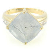 9K Mutuca Rutile Quartz Gold Ring