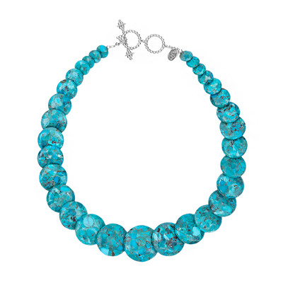 Turquoise Silver Necklace (Dallas Prince Designs)