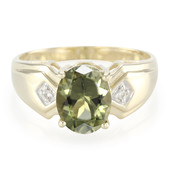 9K Afghan Olive Tourmaline Gold Ring