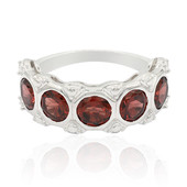 Mozambique Garnet Silver Ring (Remy Rotenier)