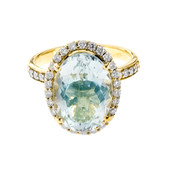 18K Aquamarine Gold Ring (de Melo)