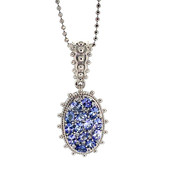 Tanzanite Silver Necklace (Dallas Prince Designs)