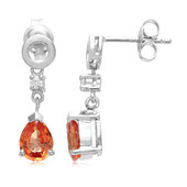 Padparadscha Sapphire Silver Earrings (Cavill)