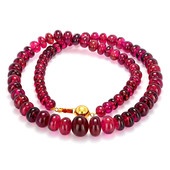 18K Shimoyo Rubellite Gold Necklace