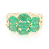18K AAA Zambian Emerald Gold Ring