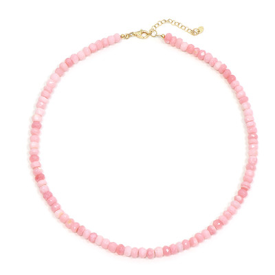 Pink Opal Silver Necklace