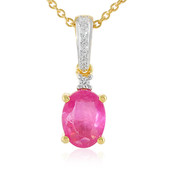 Madagascar Pink Sapphire Silver Necklace