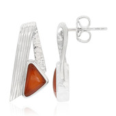 Carnelian Silver Earrings (MONOSONO COLLECTION)