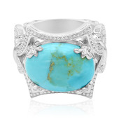 Kingman Blue Mojave Turquoise Silver Ring (Dallas Prince Designs)