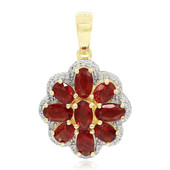 9K Red Tibetanite Gold Pendant
