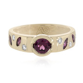 9K Rhodolite Gold Ring (Adela Gold)