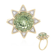 9K Green Amethyst Gold Ring (PHANTASIA)