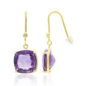 9K Amethyst Gold Earrings