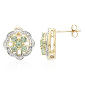 9K Cuprian Tourmaline Gold Earrings
