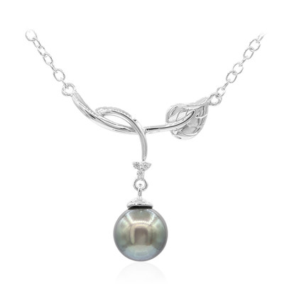 Tahitian Pearl Silver Necklace