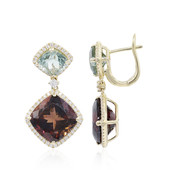 14K Congo Neon Tourmaline Gold Earrings (CIRARI)