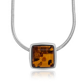Baltic Amber Silver Necklace