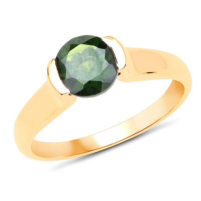 9K Russian Diopside Gold Ring