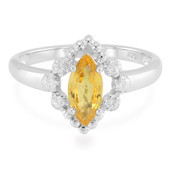 Yellow Sapphire Silver Ring