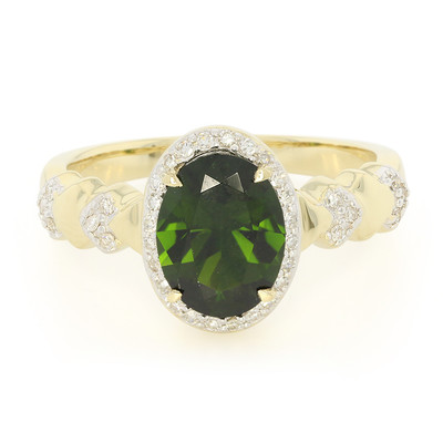14K Russian Diopside Gold Ring (Lance Fischer)