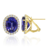 18K AAA Tanzanite Gold Earrings (CIRARI)