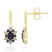 9K Blue Sapphire Gold Earrings