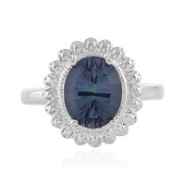 Mystic Blue Quartz Silver Ring