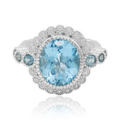 Swiss Blue Topaz Silver Ring (Dallas Prince Designs)