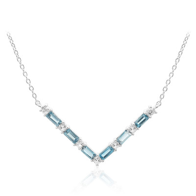 London Blue Topaz Silver Necklace