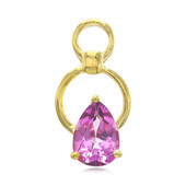 Grape Topaz Silver Pendant